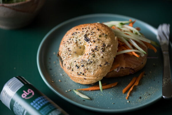 Alg Seaweed Seasoning On Bagel