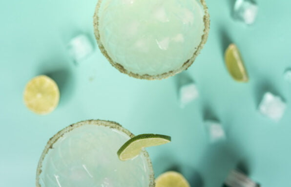 Lime and seaweed margarita top down