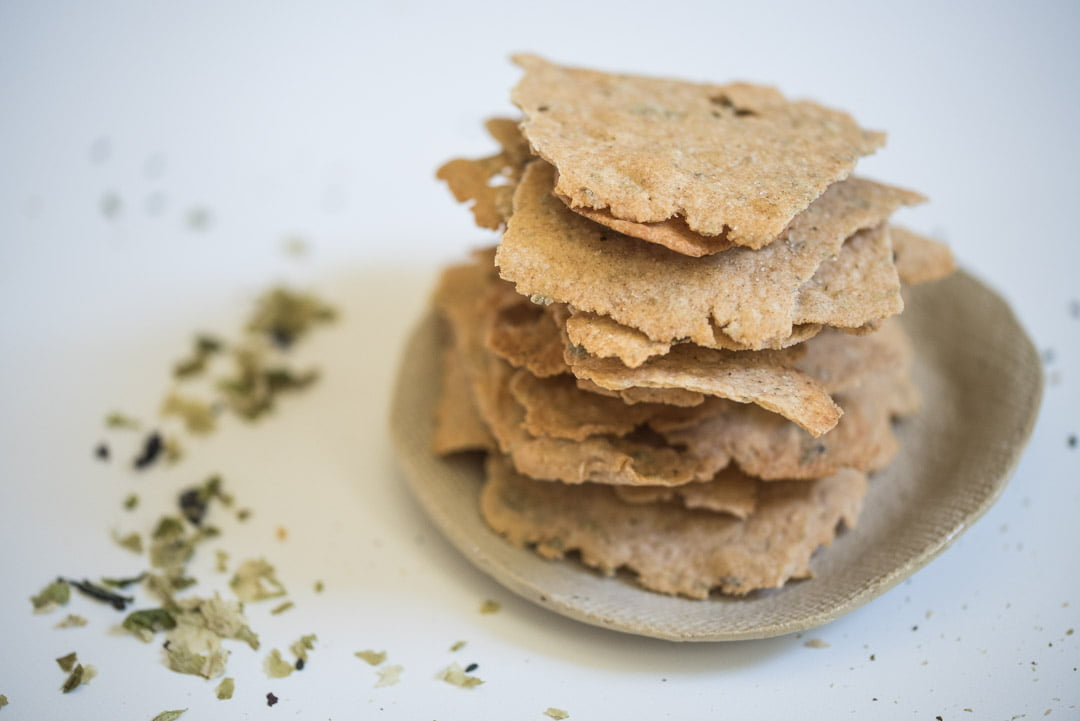 sourdough crackers with Alg Seaweed